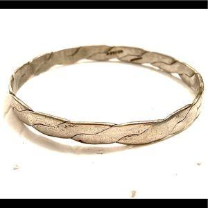 Boho vintage bangle bracelet silver